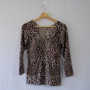 Other - Leopard Animal Print Under Shirt / Sleepwear Top